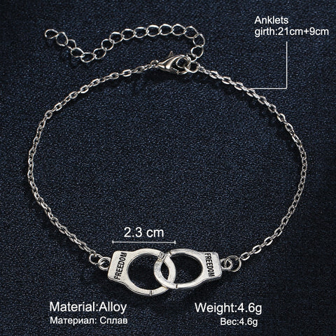 Image of Handcuff Ankle Bracelet for Women
