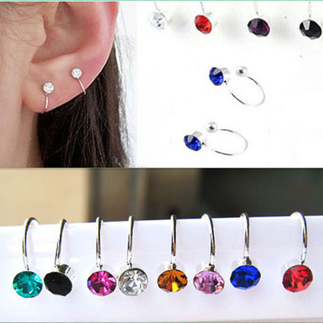 Crystal Rhinestone Clip on Earrings