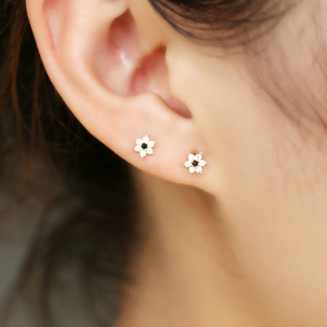 Romantic Flower Stud Earrings
