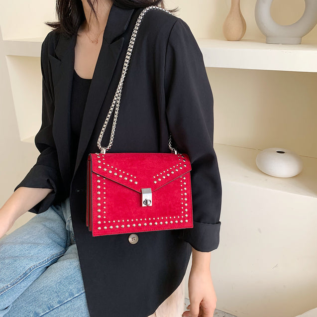 Scrub Leather Small Shoulder Bag For Women
