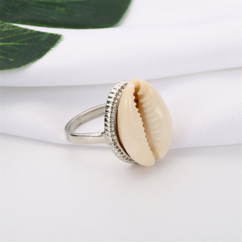 Bohemian Shell Knuckle Midi Ring for Women