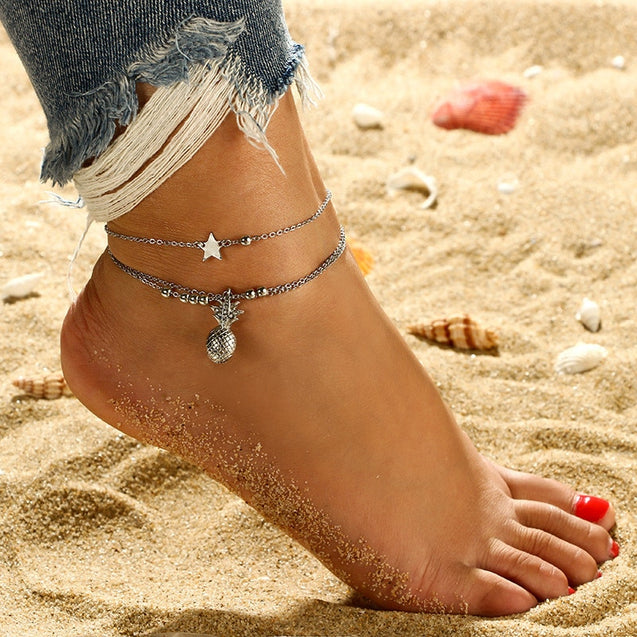 Pineapple Charm Anklet Bracelets For Women