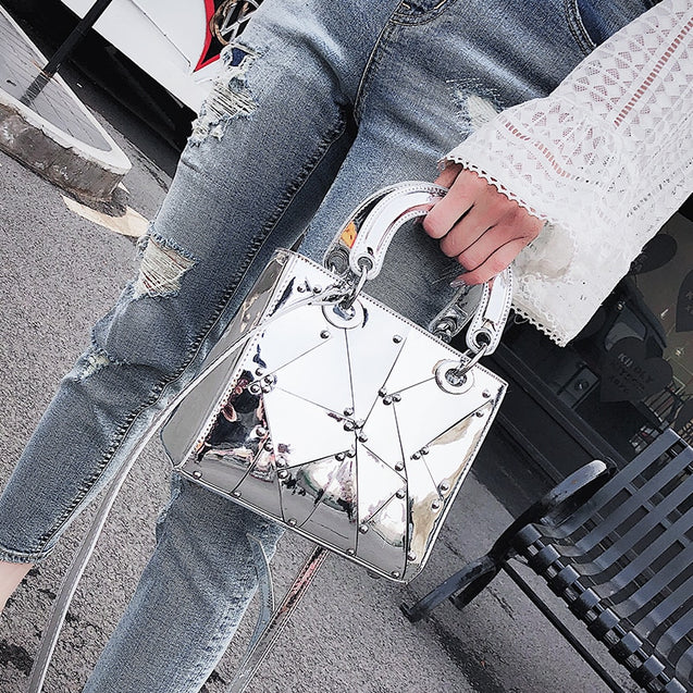Fashion Mirror Handle Tote Bag