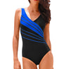 Stitching Backless One Piece Swimsuit