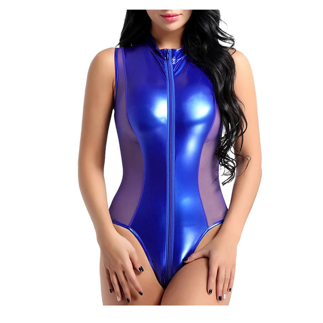 Charmed Patent Leather Lingerie Bodysuit