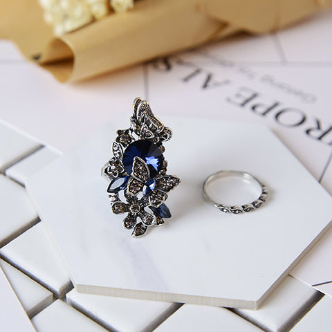 Elegant Crystal Butterfly Shape Ring