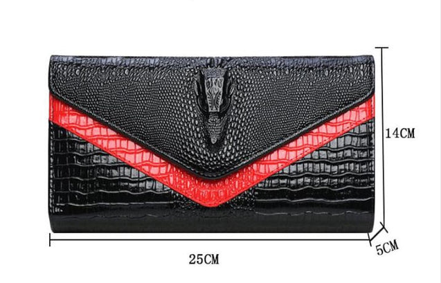 Women Alligator Envelope Clutch Bags