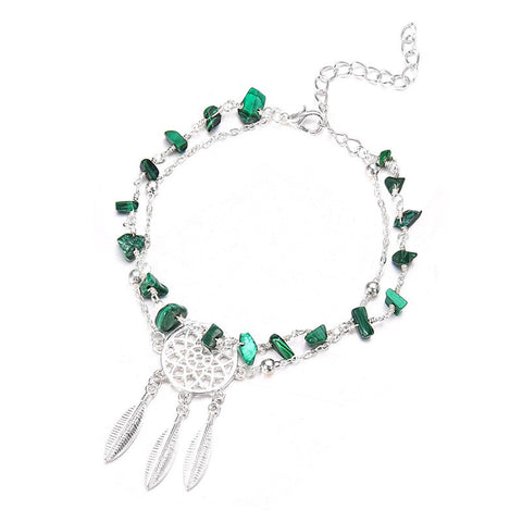 Image of Double Foot Chain Dreamcatcher Ankle Bracelet