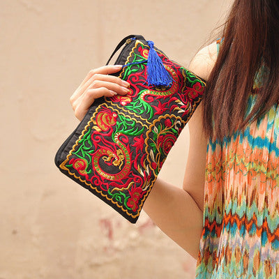 Women Fashion Embroidery Clutch Bags
