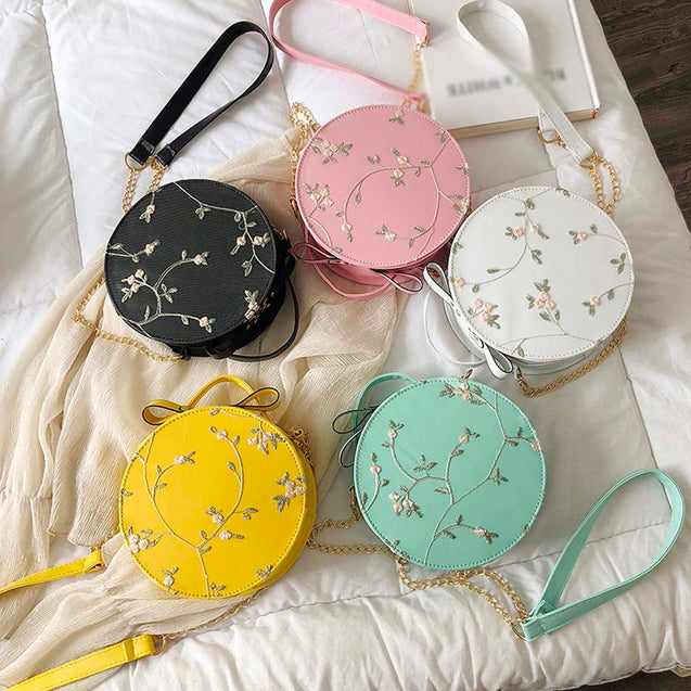 Sweet Lace Round Shoulder Bag
