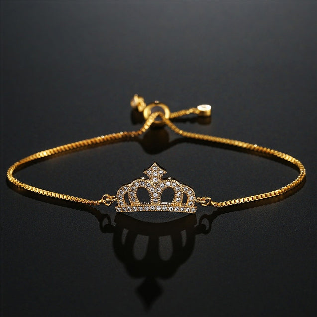 Trendy Crown Charm Bracelet