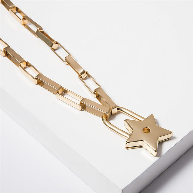 Necklace with Star Lock Pendant