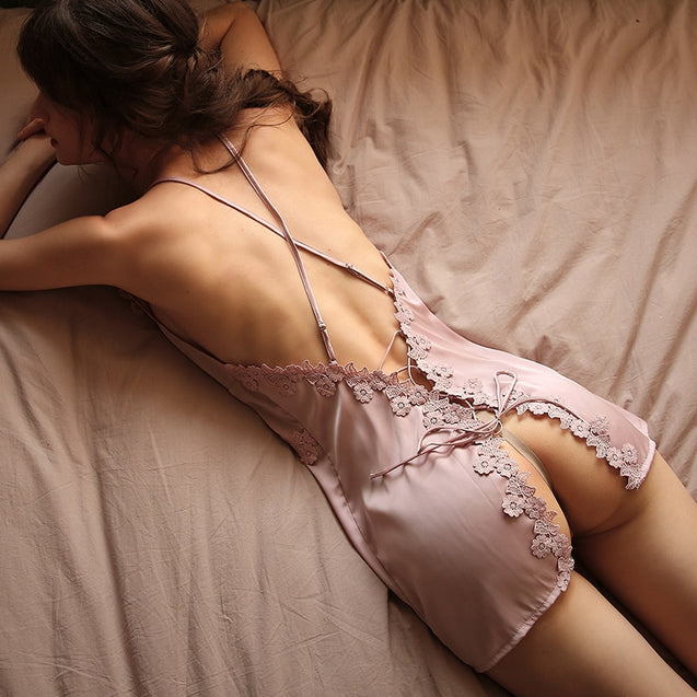 Women's Sling Lace Embroidery Nightdress