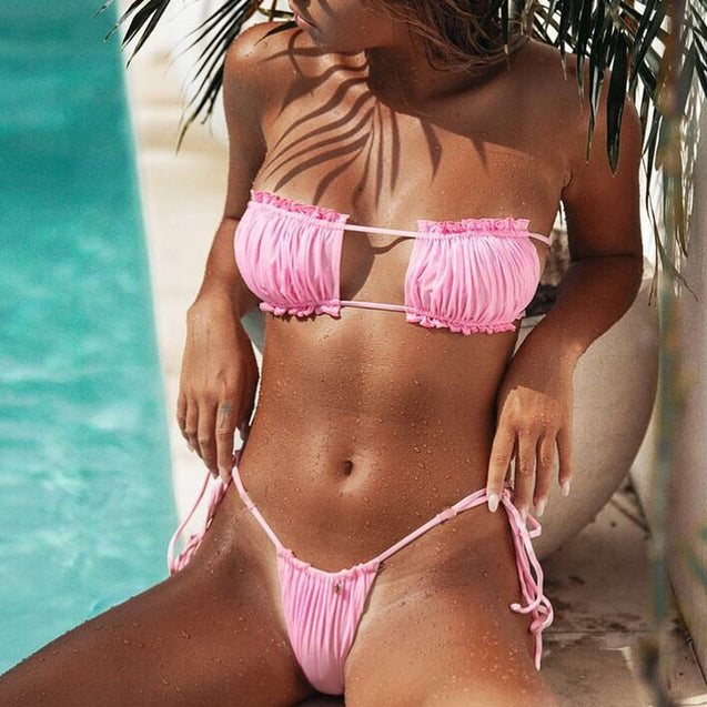 Push Up Two Piece Swimming Suit Bikini Set