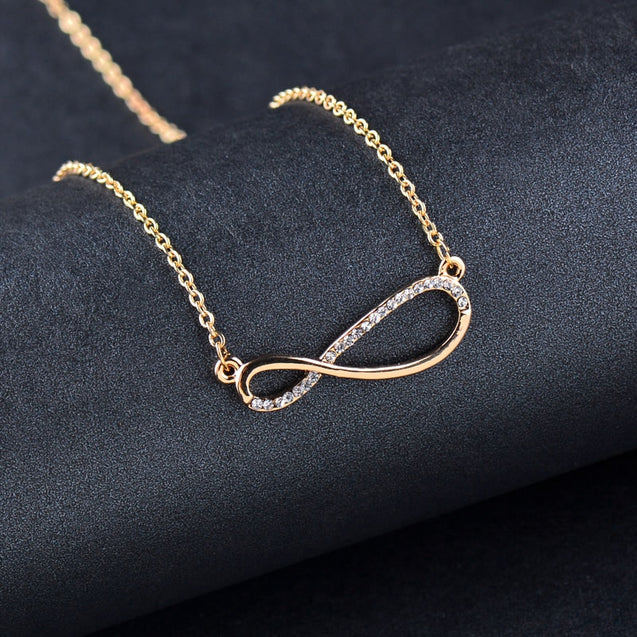 Brilliant Crystal Infinity Pendant Necklace