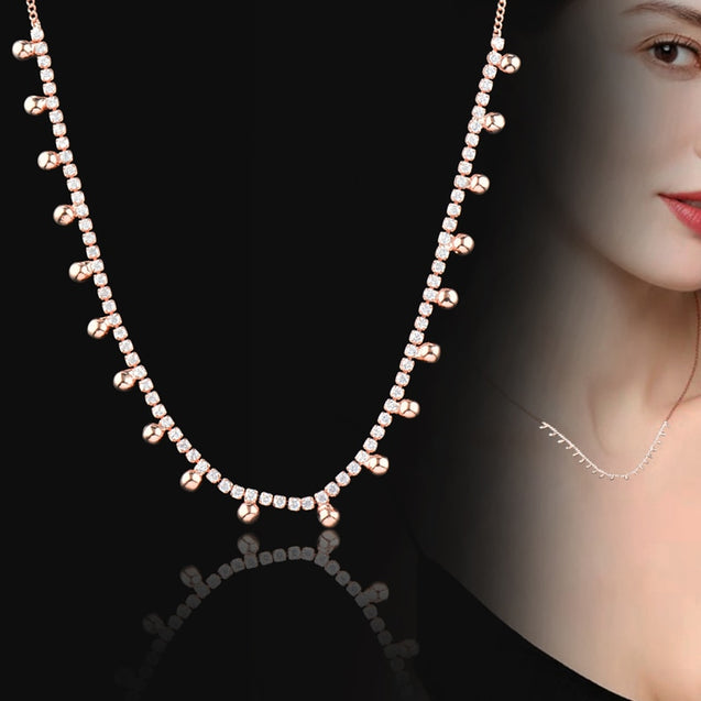 Chic Dazzling Cubic Zirconia Crystal Necklace