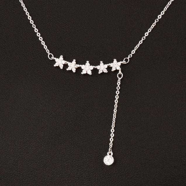 Shiny Five Star Pendant Necklace