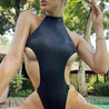 High Neck Push Up  One piece swimsuit