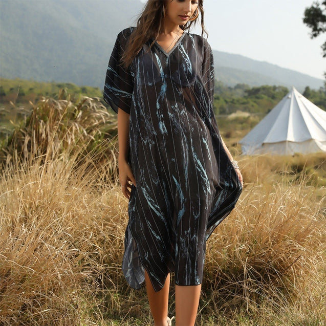 Women Maxi Wrap Cover Up