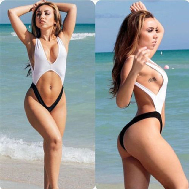 High Waist Bandage Swimsuit Bikini Set