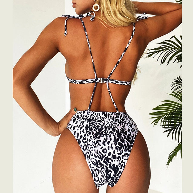 Leopard One-piece High Cut Bodysuits