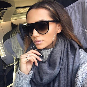 Thin Flat Top Women Sunglasses