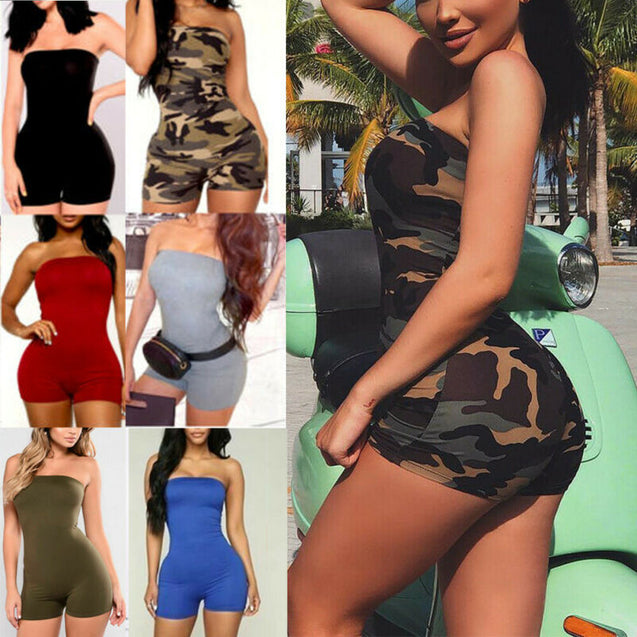 Womens Sleeveless Jumpsuits Bodycon