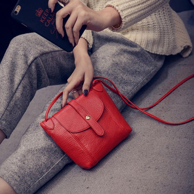 Soft PU Leather Crossbody Bag