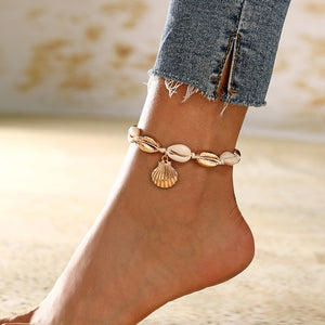 Natural Shell Conch Rope Anklets For Women