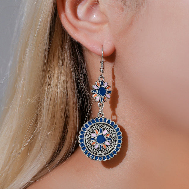Antique Carved Royal Dangle Earrings