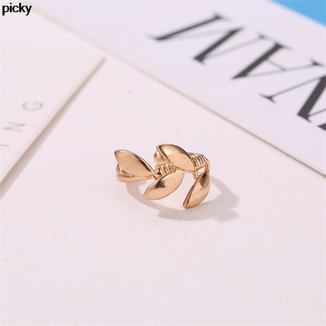 Leaf Ear Cuff Clip on Earrings for Women