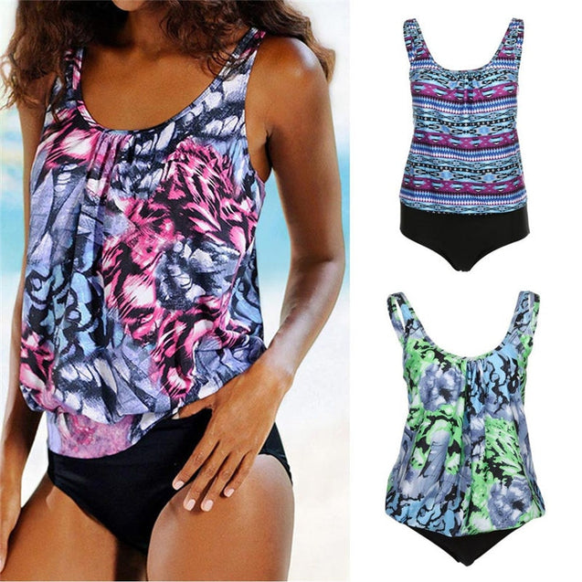 Women Printed Tankini Set