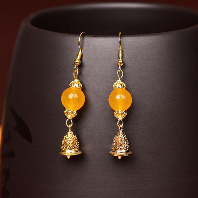 Chinese Ethnic Dangle Earrings