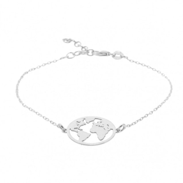 World Map Charm Bracelet