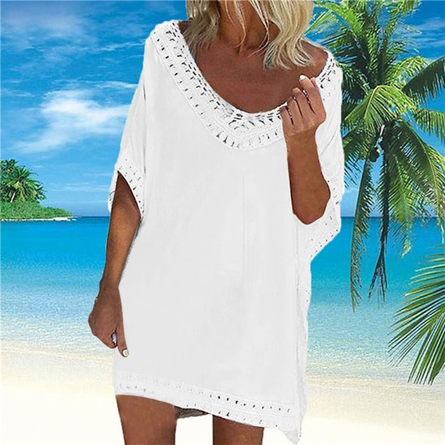 Lace Hollow Crochet Cover Up