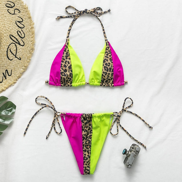 Leopard Bikini Set Summer Beach Wear