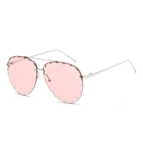 Oversized Pilot Aviator Sunglasses Women