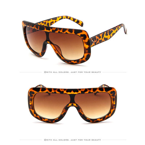 Image of Luxury Big Frame  Flat Top Sunglasses