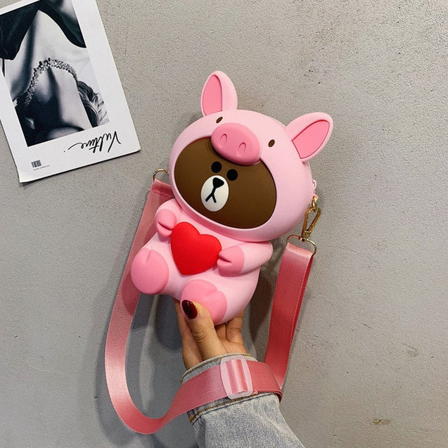 3D Cute Animal Crossbody Bag