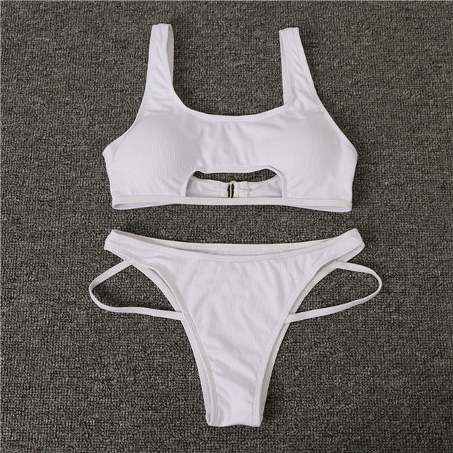 Two-piece Suit High Cut Swimwear For Women
