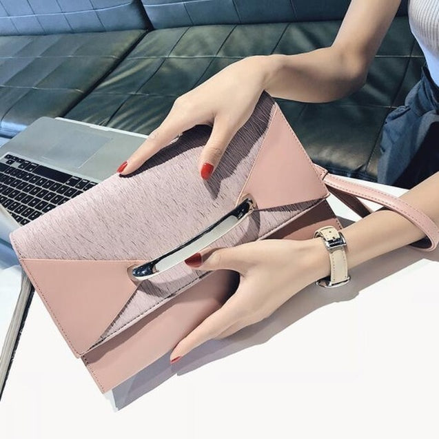 Womens Luxury Envelope Clutch Bag