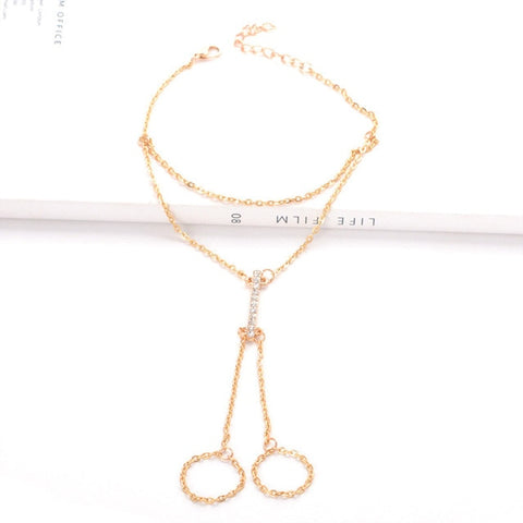 Barefoot Anklet Bracelet for Women Bridal Toe Ankle Foot Chain Jewelry