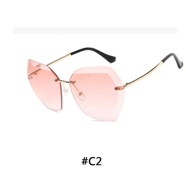 Luxury Polarized Sunglasses Rimless Sunglasses