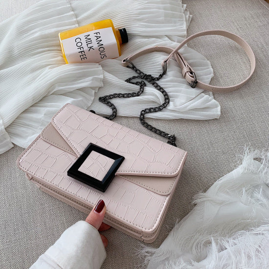 Stone Pattern PU Leather Crossbody Bags For Women