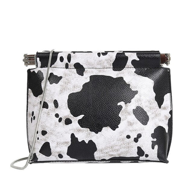 Cow Pattern Small Crossbody Bag