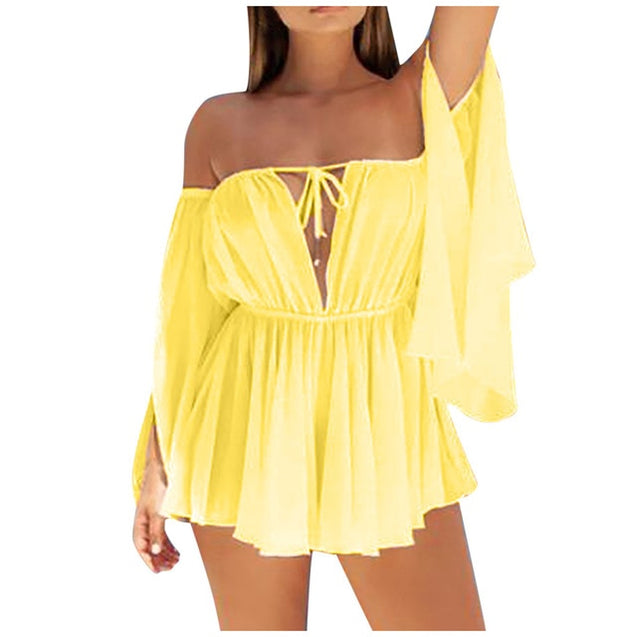 Women's Sexy Chiffon Mini Dress