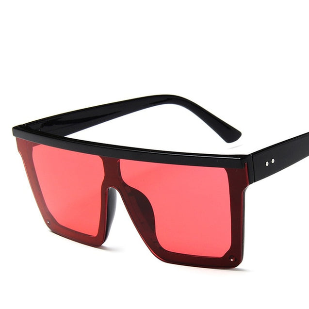 Oversized Flat Top Women Sunglasses
