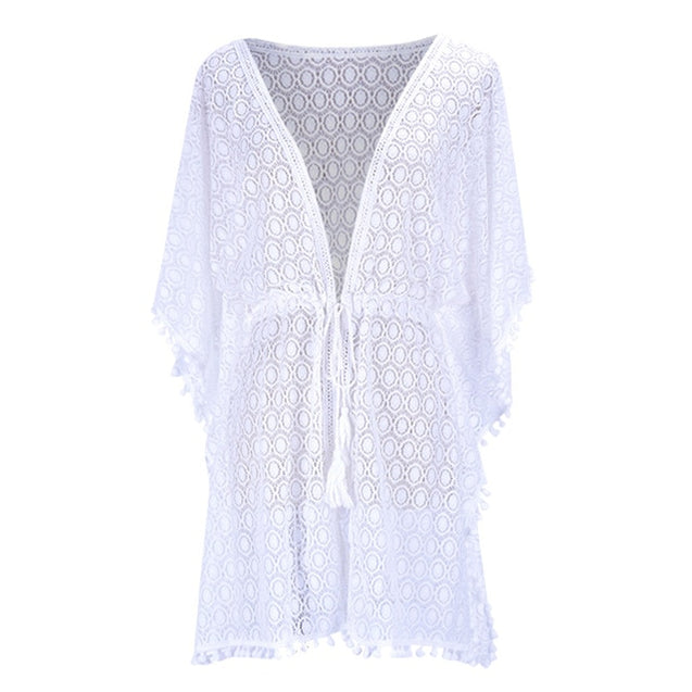 Women Floral Lace Cover Up