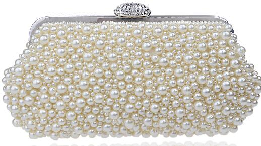 Women Vintage Imitation Pearl Clutch Bags