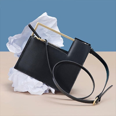 Fashion Metal Handle Tote Bag